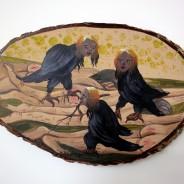 24.5cm x 15.5cm Emulsion & acrylic on found wood, 2013. Photo: Paulette Terry Brien