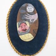 Acrylic on clay on found object, 15cm x 24cm, 2012. Photo: Simon Pantling