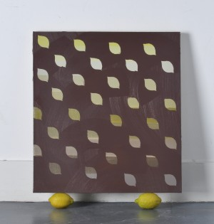 oil on linen with two lemons dimensions variable