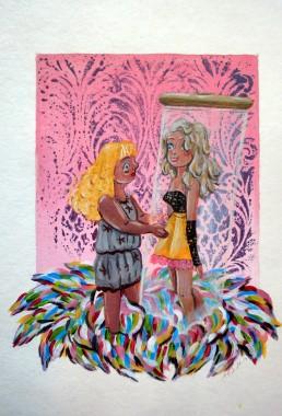 Acrylic on rag paper, 2014, 28cm x 37cm.