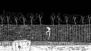 Andrew McDonald, Fence / Hammock, 2016/7 animation still. Courtesy the artist